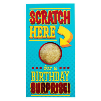 Birthday Humourous Scratch Here Surprise Card