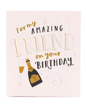 Pretty Birthday Card for Friend