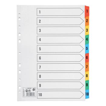 5 Star Premier A4 1-10 Index Multi-Colour Mylar