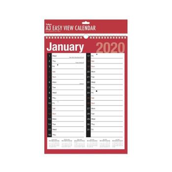 A3 2020 Easy View Calendar