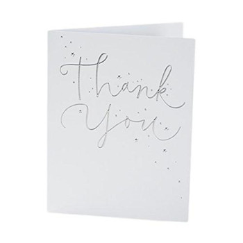 Pack of 10 Foild Finished Thank You Cards