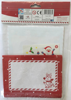 10 Sheet Childrens Christmas Thank You Letters Kit - Santa's Letter Pack