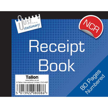 Numbered Duplicate Receipt Book Carbonless - 80 Pages