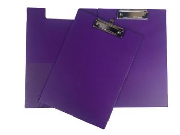100 x Janrax A4 Purple Foldover Clipboard