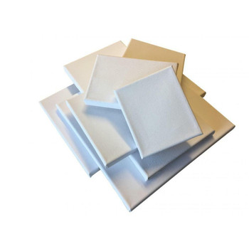 Pack of 10 Stretched Mini Canvas Wooden Frame 280gsm 10x10cm