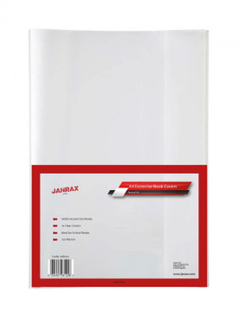 Pack of 100 A4 Clear Exercise Book Covers by Janrax