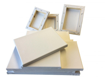 Pack of 5 Stretched Mini Canvas Wooden Frames 280gsm 25x25cm