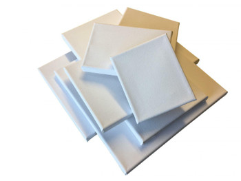 Pack of 5 Stretched Mini Canvas Wooden Frames 280gsm 20x20cm