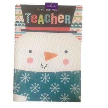Just For You Teacher Christmas Card Hallmark