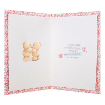 "Forever Friends Girlfriend Card ""You Deserve a Million Hugs"" Large"