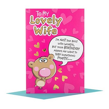 "Hallmark Wife Birthday Card ""Love You"""