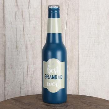 Best Grandad Ever Beer Bottle Shaped Money Box Gift New