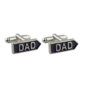 Arrow Shaped 'Dad' Cufflinks - Comes Boxed