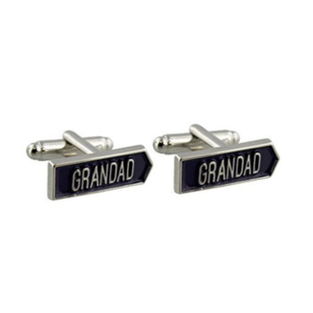 Arrow Shaped 'Grandad' Cufflinks Comes Boxed Christmas Birthday Fathers Day All Time