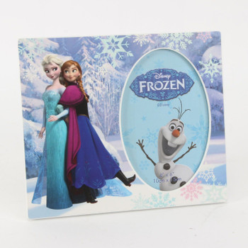 "Disney Frozen Elsa and Anna Wooden Frame 6""x4"" Oval"