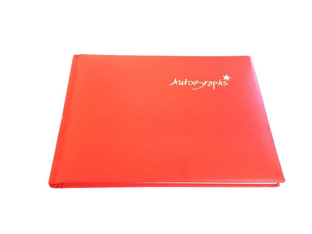 Red Autograph Book 100 pages Signature End of Term School Leavers