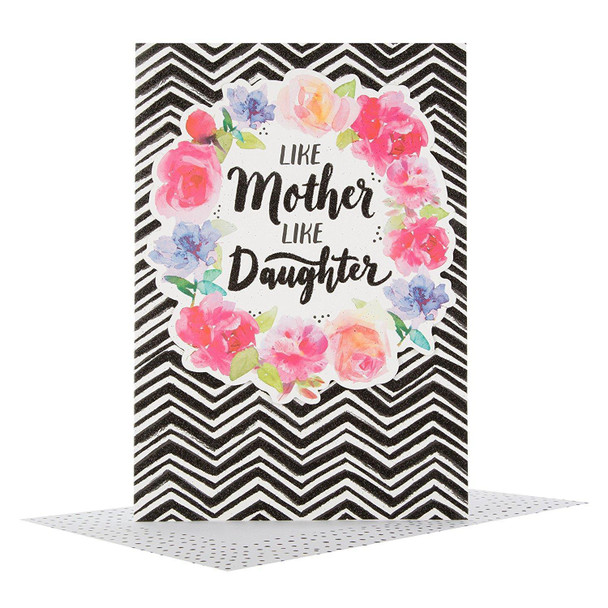 Hallmark Morden Mother's Day Card 'Like Mother Like Daughter' Medium New