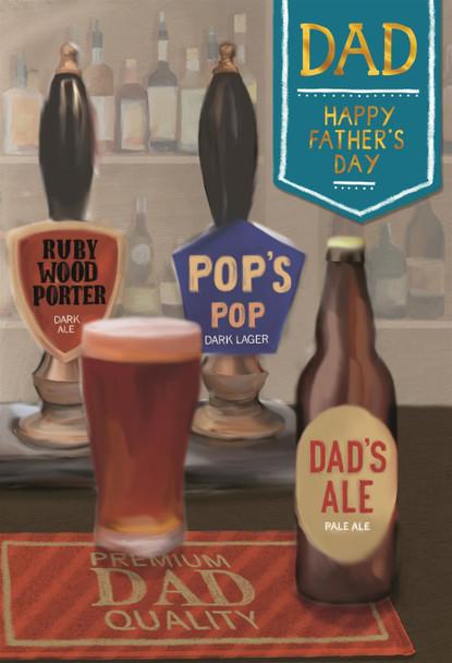 Pop's Pop Beer Ale Dad Father's Day Card Hallmark