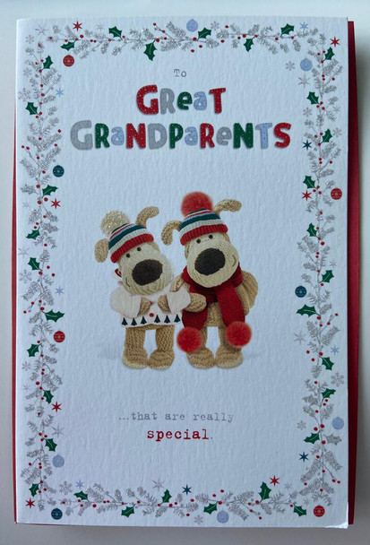 To Great Grandparents Silver Foil Finished Christmas Card