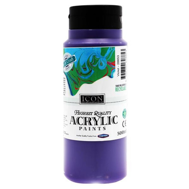 Violet Acrylic Paint 500ml by Icon Art