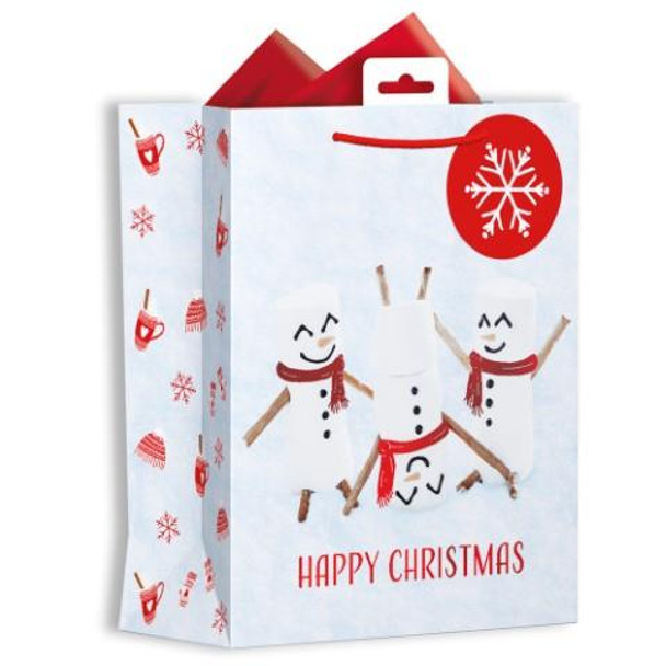 Photographic Marshmallow Design Medium Christmas Gift Bag