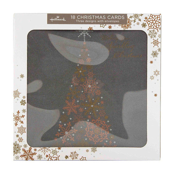 """Hallmark Bumper Christmas Boxed Cards /""""to You/"""" 18 Cards 3 Designs New"""
