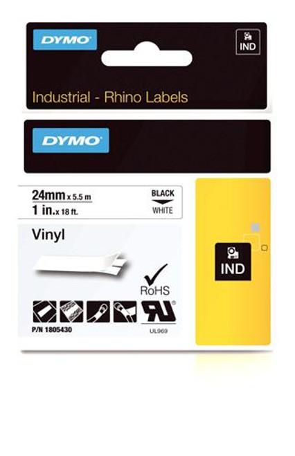 """Vinyl Label, Black on White, 1"""" (1805430)"