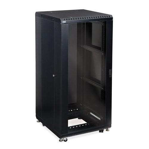 """27U LINIER Server Cabinet - Glass/Vented Doors - 24"""" Depth (3100-3-024-27)"""