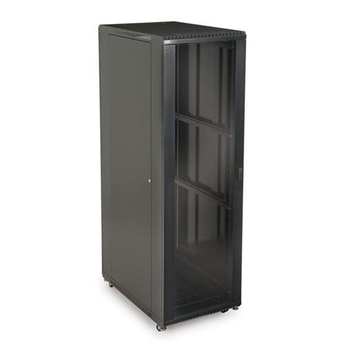"""42U LINIER Server Cabinet - Glass/Solid Doors - 36"""" Depth (3101-3-001-42)"""