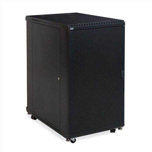 "22U LINIER Server Cabinet - Solid/Convex Doors - 36"" Depth (3104-3-001-22)"