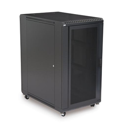 """22U LINIER Server Cabinet - Convex/Convex Doors - 36"""" Depth (3105-3-001-22)"""
