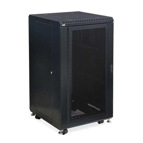 """22U LINIER Server Cabinet - Convex/Convex Doors - 24"""" Depth (3105-3-024-22)"""