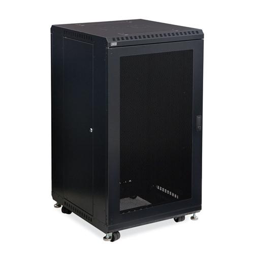 "22U LINIER Server Cabinet - Vented/Vented Doors - 24"" Depth (3107-3-024-22)"