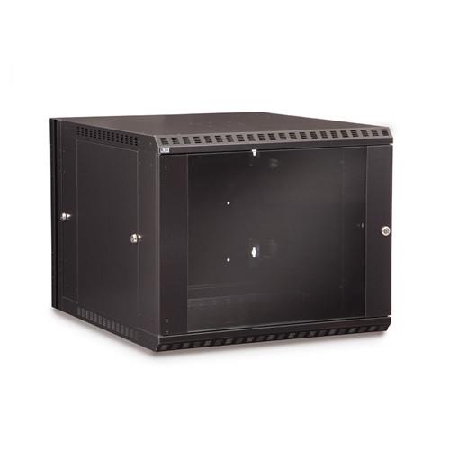 9U LINIER Swing-Out Wall Mount Cabinet - Glass Door (3130-3-001-09)