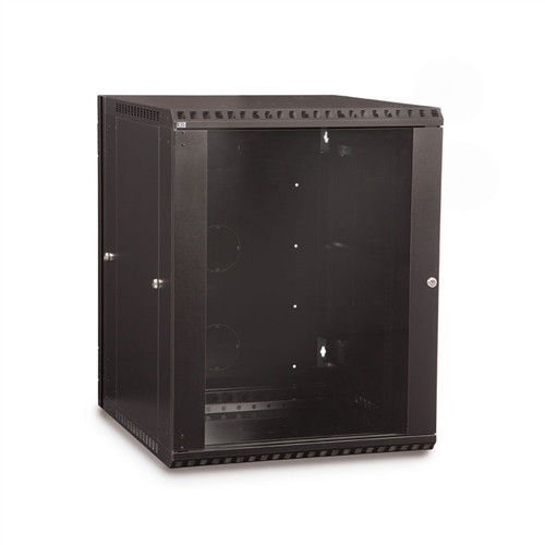 15U LINIER Swing-Out Wall Mount Cabinet - Glass Door (3130-3-001-15)