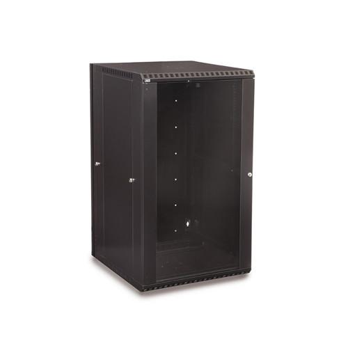 22U LINIER Swing-Out Wall Mount Cabinet - Glass Door (3130-3-001-22)