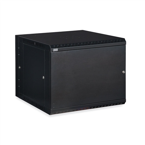 9U LINIER Swing-Out Wall Mount Cabinet - Solid Door (3131-3-001-09)