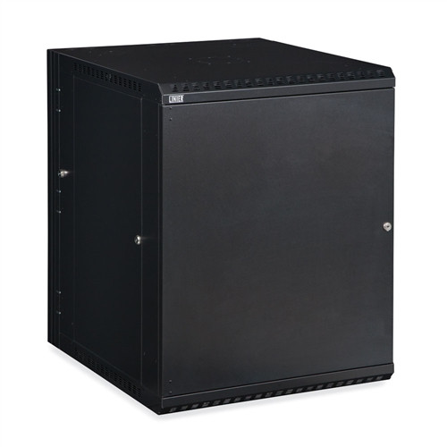 15U LINIER Swing-Out Wall Mount Cabinet - Solid Door (3131-3-001-15)