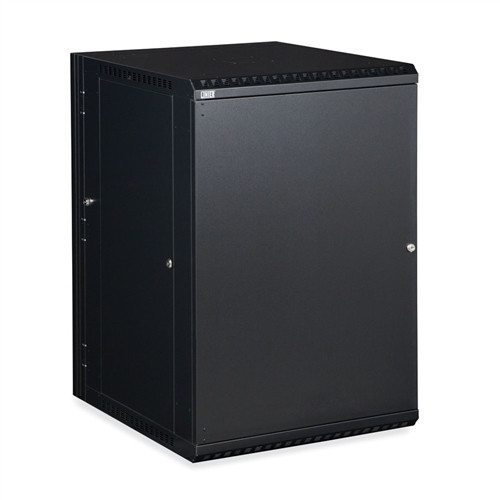 18U LINIER Swing-Out Wall Mount Cabinet - Solid Door (3131-3-001-18)