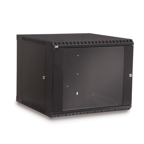 9U LINIER Fixed Wall Mount Cabinet - Glass Door (3140-3-001-09)