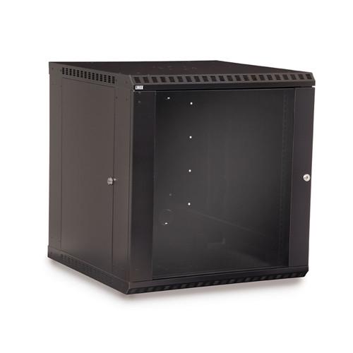 12U LINIER Fixed Wall Mount Cabinet - Glass Door (3140-3-001-12)