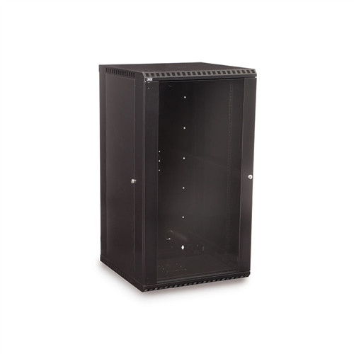 22U LINIER Fixed Wall Mount Cabinet - Glass Door (3140-3-001-22)