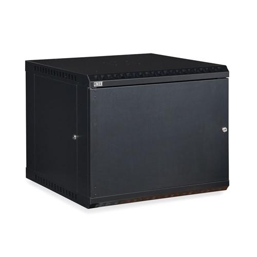 9U LINIER Fixed Wall Mount Cabinet - Solid Door (3141-3-001-09)