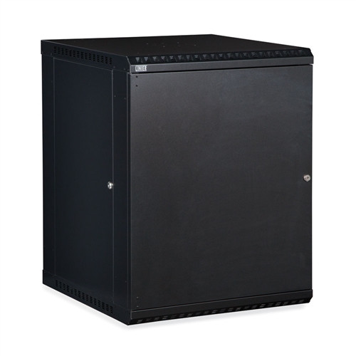 15U LINIER Fixed Wall Mount Cabinet - Solid Door (3141-3-001-15)