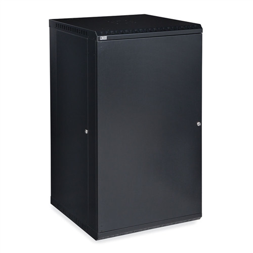 22U LINIER Fixed Wall Mount Cabinet - Solid Door (3141-3-001-22)