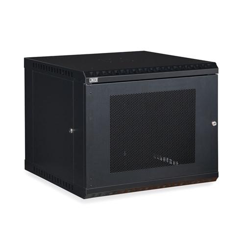 9U LINIER Fixed Wall Mount Cabinet - Vented Door (3142-3-001-09)