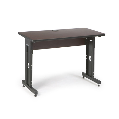 """48"""" W x 24"""" D Training Table - African Mahogany (5500-3-004-24)"""
