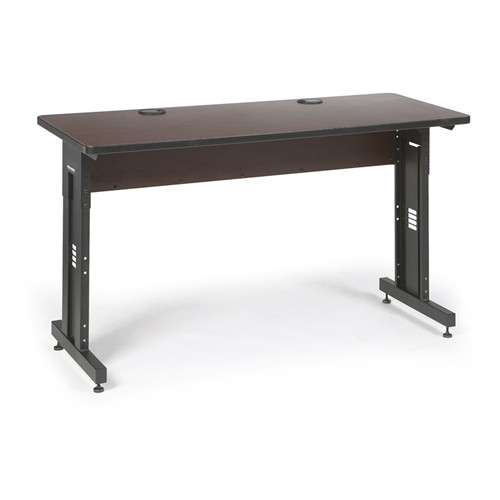"""60"""" W x 24"""" D Training Table - African Mahogany (5500-3-004-25)"""