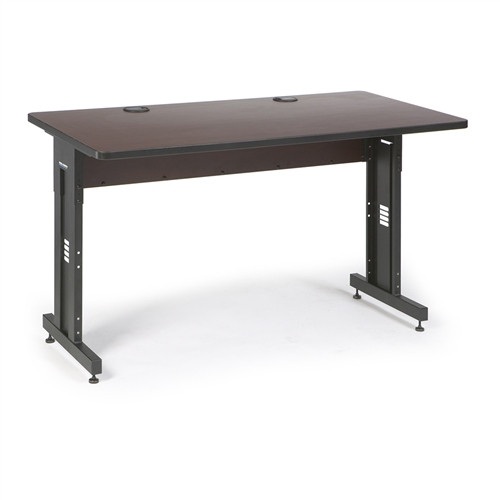 """60"""" W x 30"""" D Training Table - African Mahogany (5500-3-004-35)"""