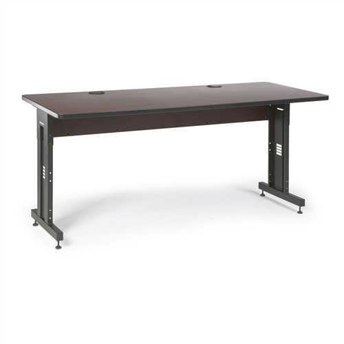 """72"""" W x 30"""" D Training Table - African Mahogany (5500-3-004-36)"""